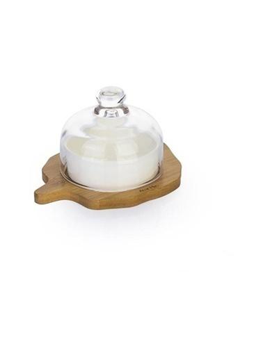 Acar PORJ-008884/24 Acar Bambu Tabaklı Porselen Servis Tabağı Büyük Porj-008884/24 Renkli